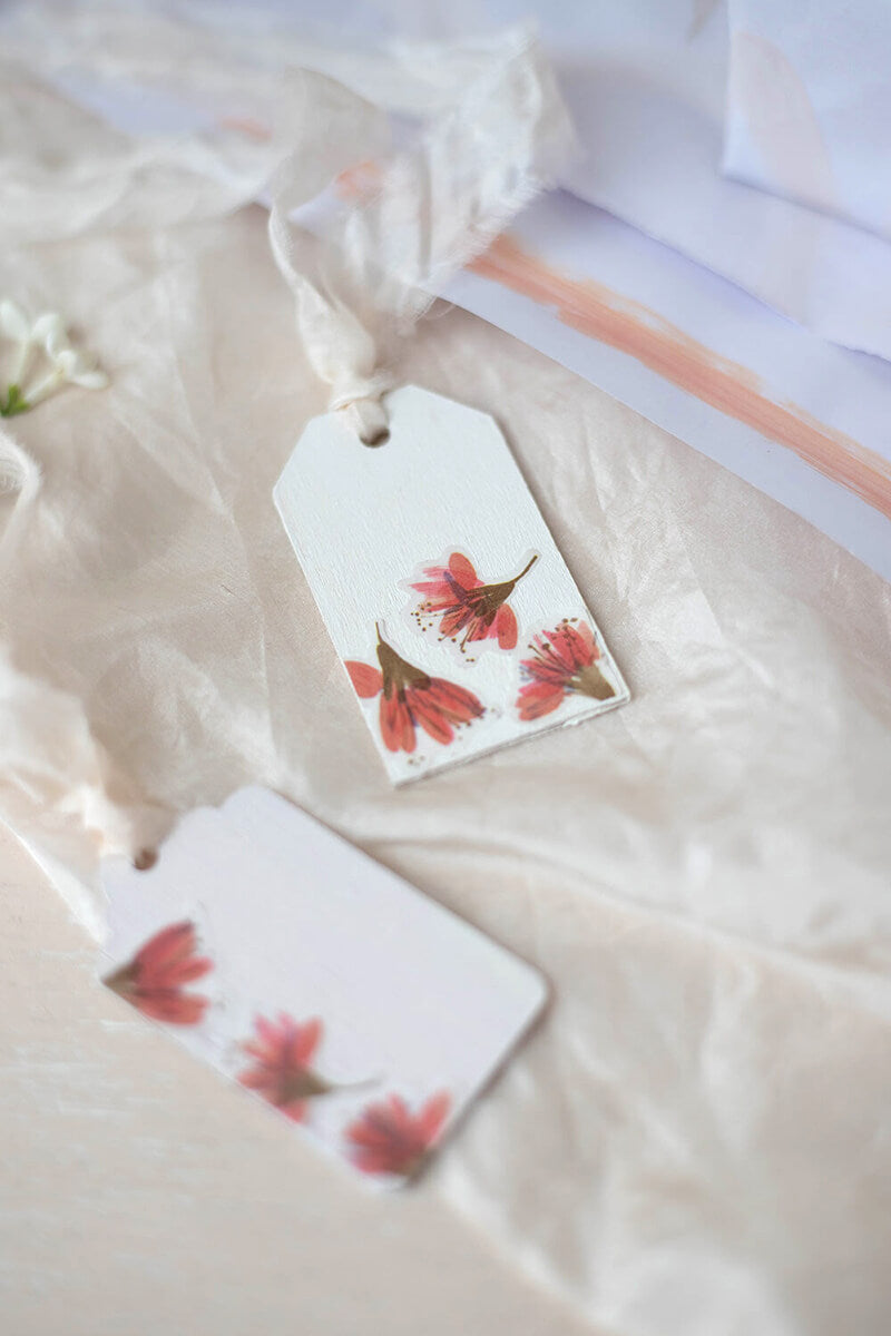 Gift tags cherry blossom stickers
