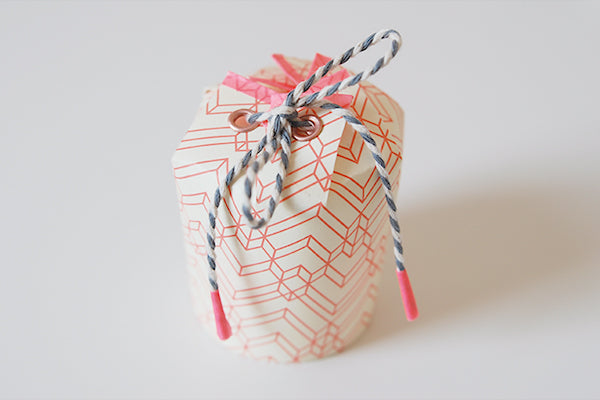 How to make a gift box from a paper cup