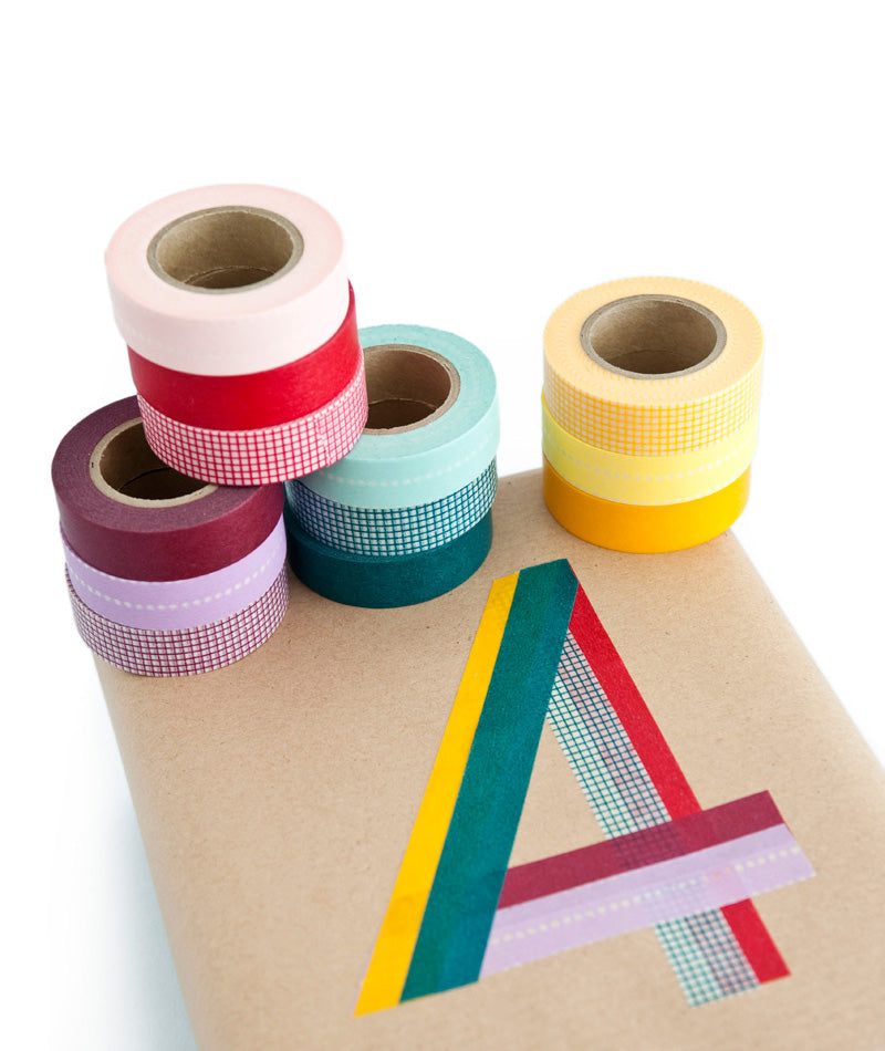 washi tape letters