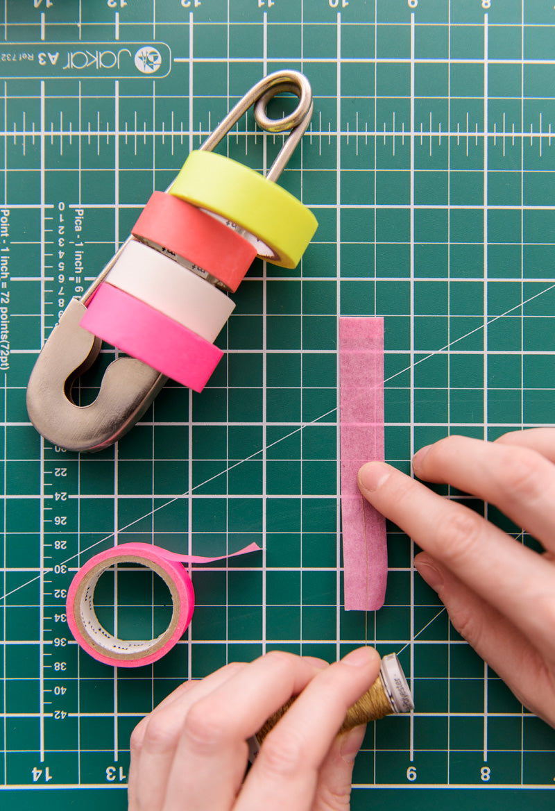 washi tape feathers step one
