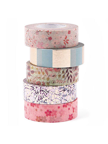 Bouquet washi tape set