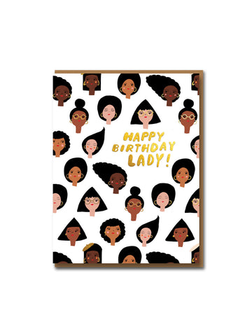 Carolyn Suzuki geo girls birthday card