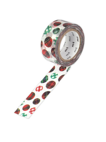 Christmas check washi tape