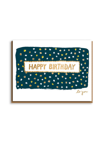 Egg Press letterpress starry birthday card