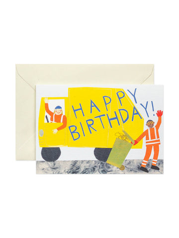 Hadley Paper Goods bin lorry birthday card