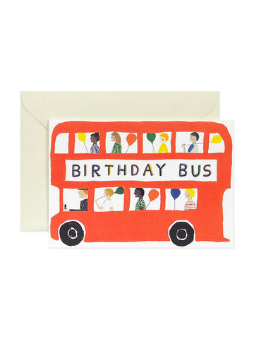 Hadley Paper Good bus birthday card