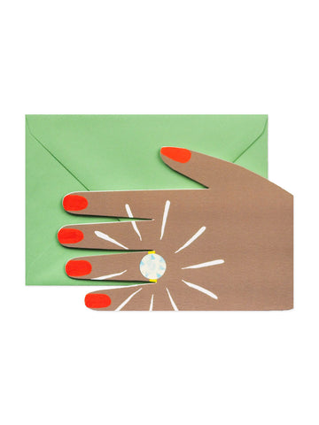 Hadley Paper Goods diamond ring card