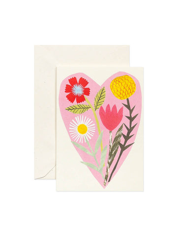 Hadley Paper Goods floral heart card