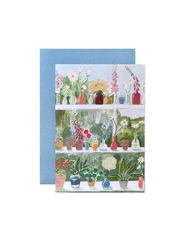 Peggy & Kate glasshouse card