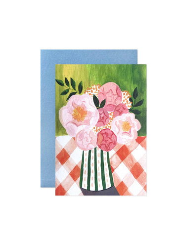 Peggy and Kate peony card