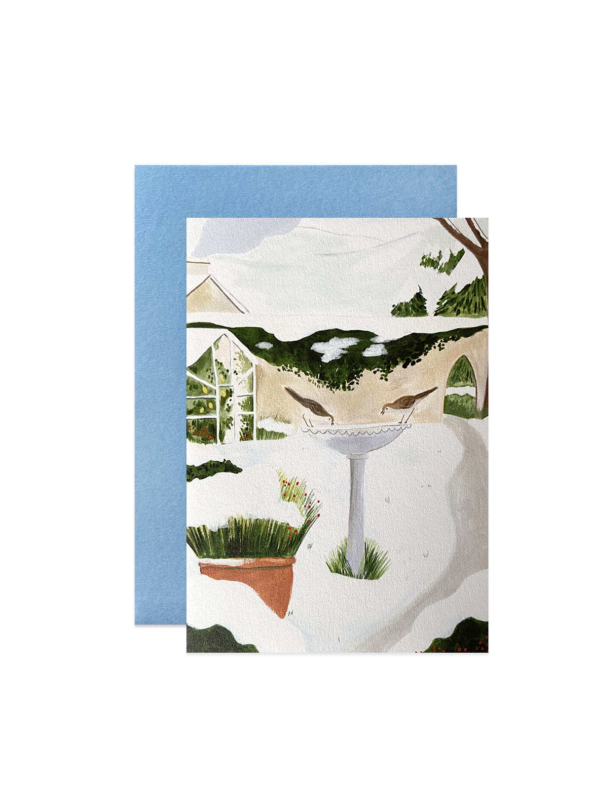 Peggy and Kate snowy garden card