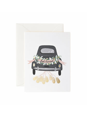 Rifle Paper Co Just Married car card