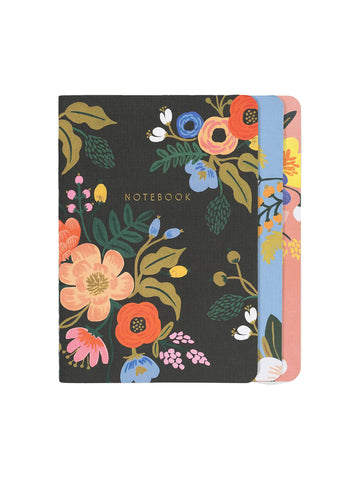 Rifle Paper Co Lively floral stitched notebook set