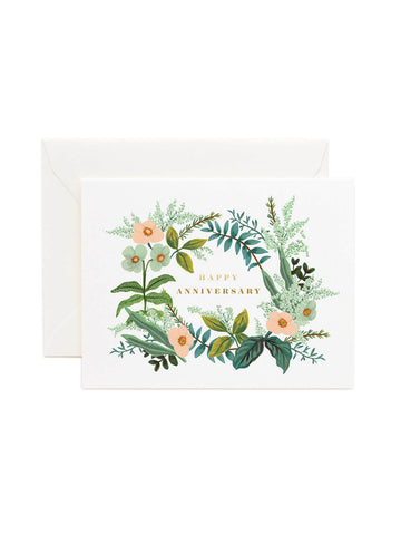 Rifle Paper Co anniversary bouquet card