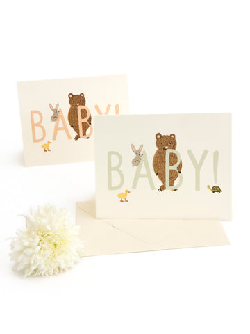 Rifle Paper Co baby card