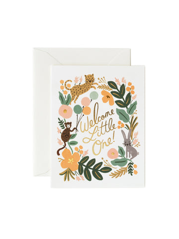 Rifle Paper Co baby menagerie card