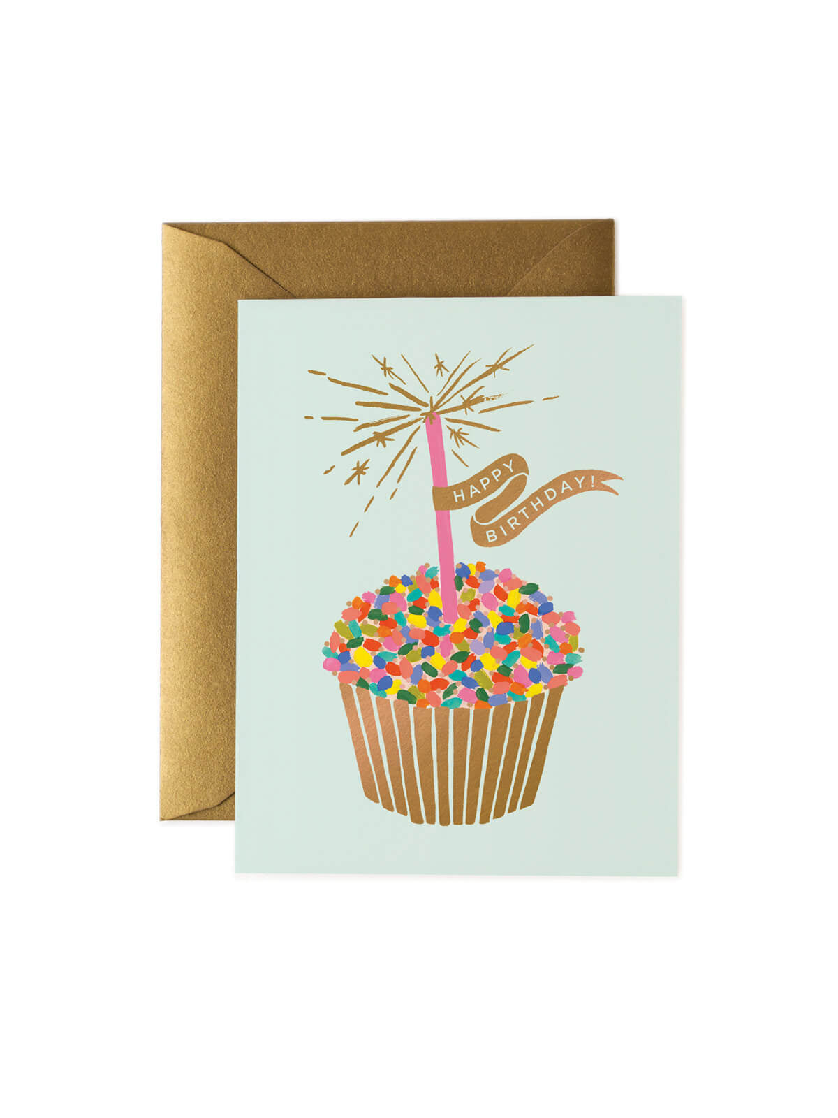 Rifle Paper Co cupcake birthday card