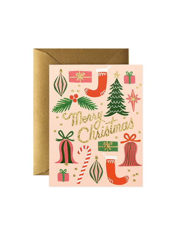 Rifle Paper Co deck the halls card set