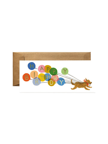 Rifle Paper Co dog balloon birthday card