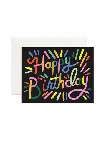 Rifle Paper Co fireworks birthday card