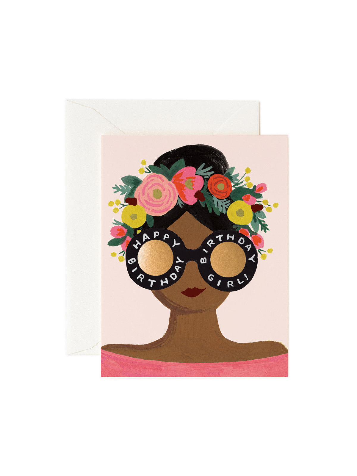 Rifle Paper Co floral birthday girl card