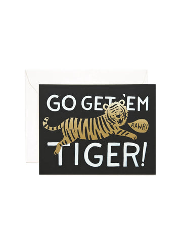 Rifle Paper Co go get 'em tiger card