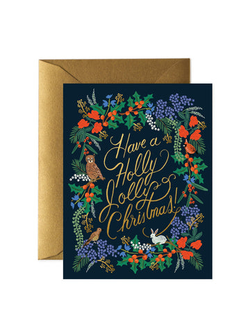 Rifle Paper Co Have a Holly Jolly Christmas card