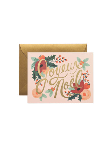RIfle Paper Co Joyeaux Noel card set