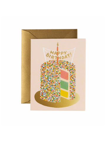 Rifle Paper Co layer cake birthday card
