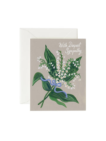 Rifle Paper Co lily of the valley sympathy card