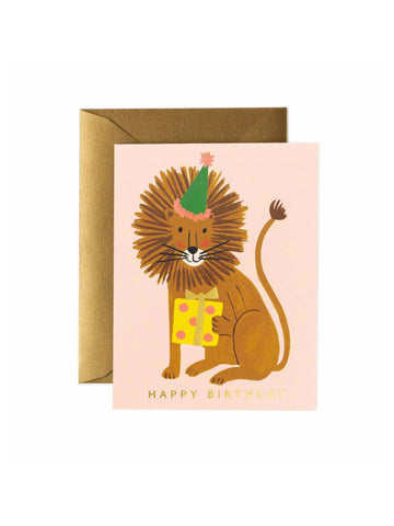 Rifle Paper Co lion birthday card