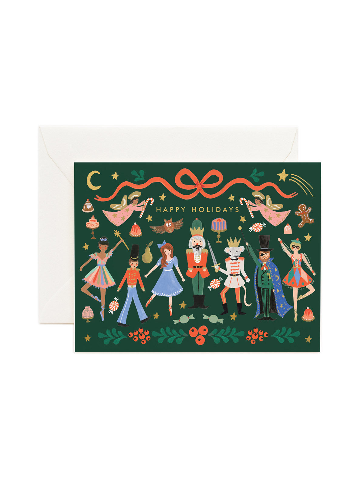 Rifle Paper Co nutcracker Happy Holidays card