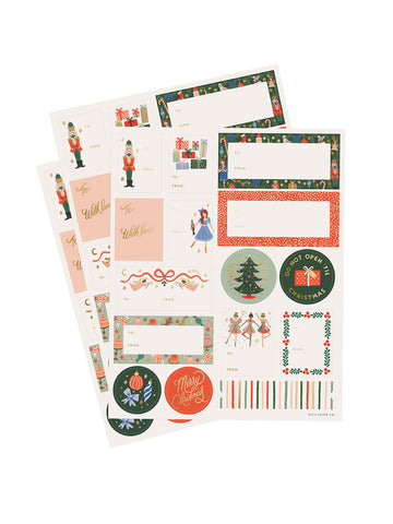 Rifle Paper Co nutcracker stickers