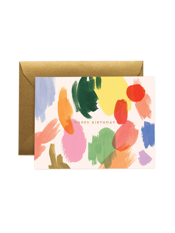 Rifle Paper Co palette birthday card