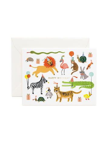 Rifle Paper Co party animals card