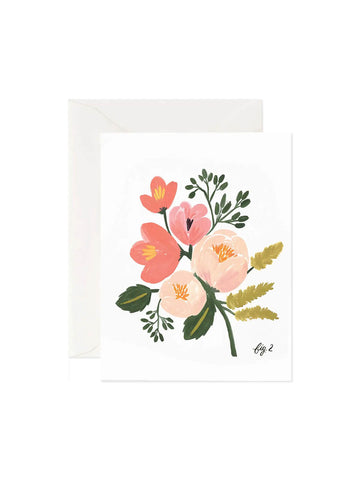 Rifle Paper Co peony card