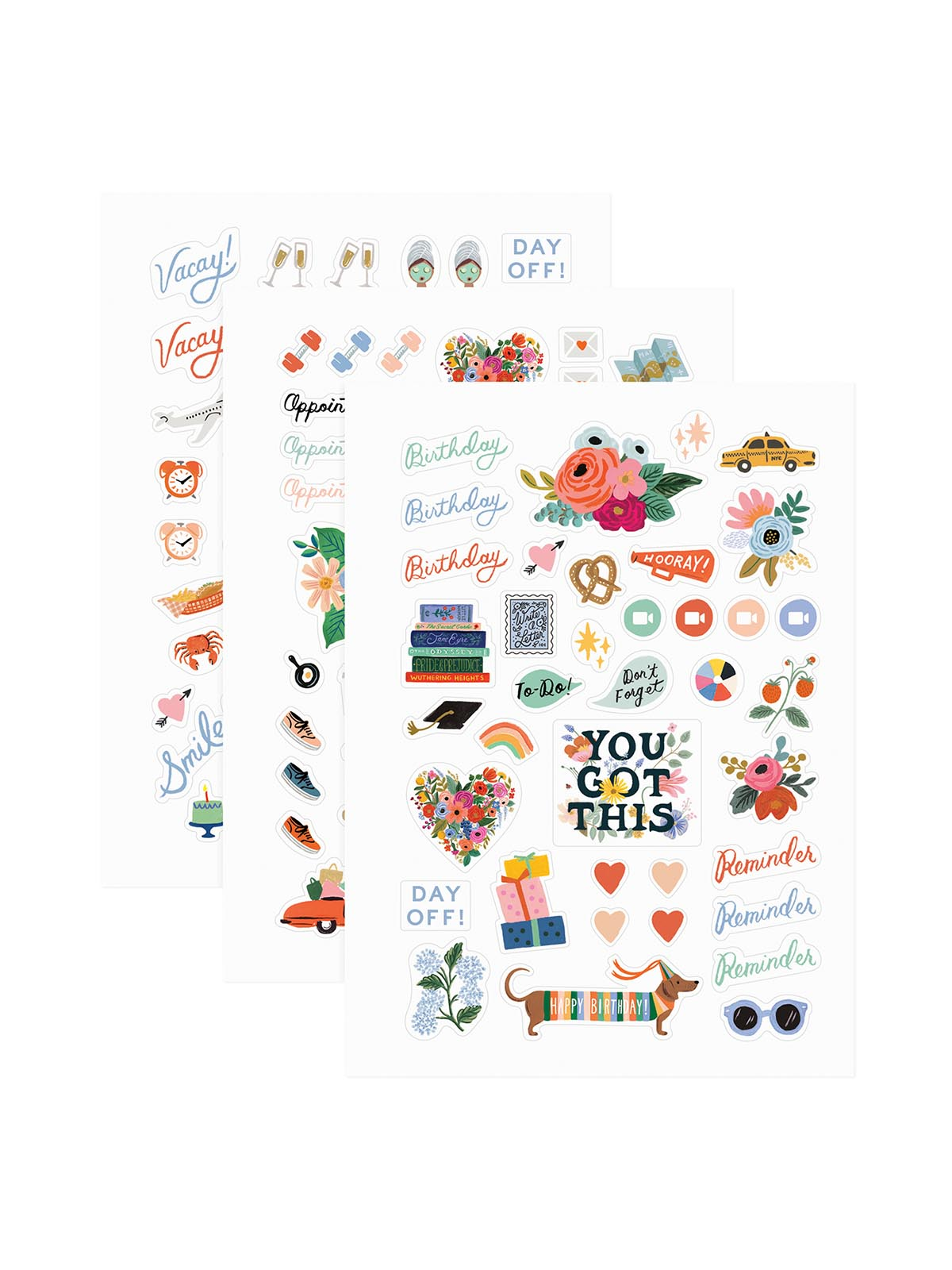 Rifle Paper Co planner stickers