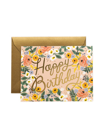 Rifle Paper Co rose birthday card