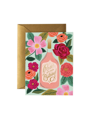 Rifle Paper Co rose bottle card