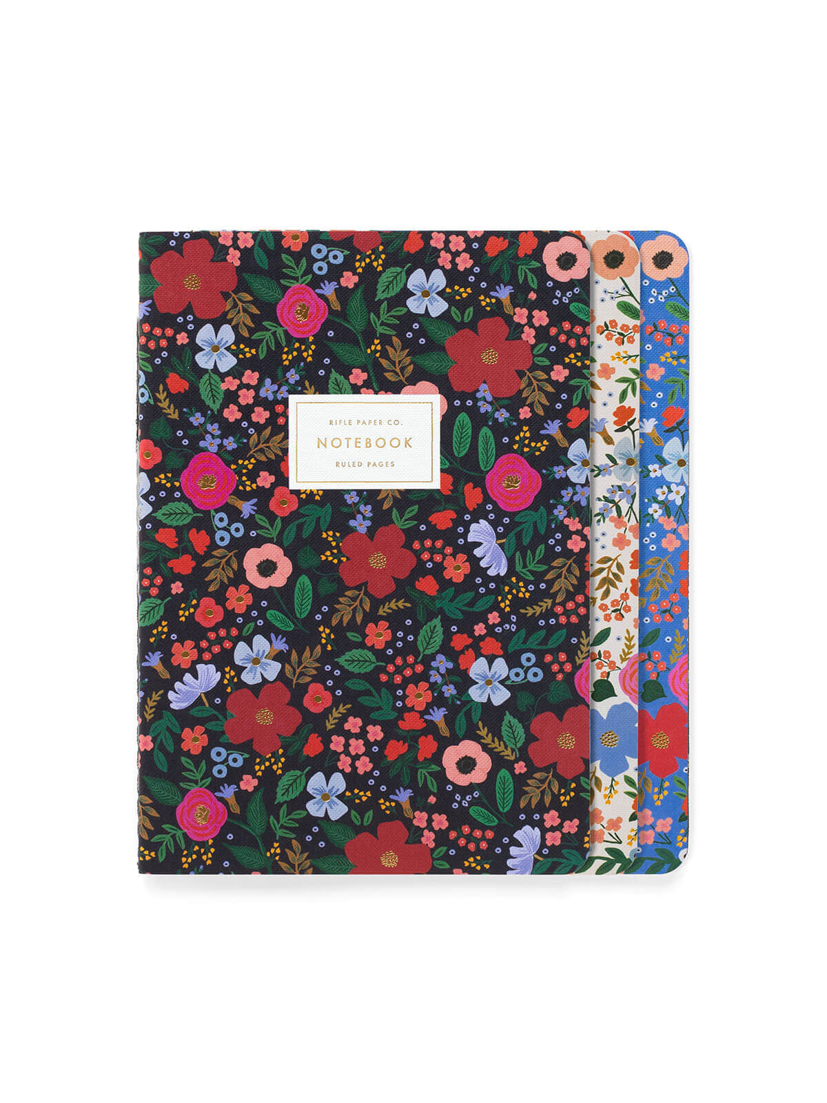 Rifle Paper Co stitched wild rose notebooks