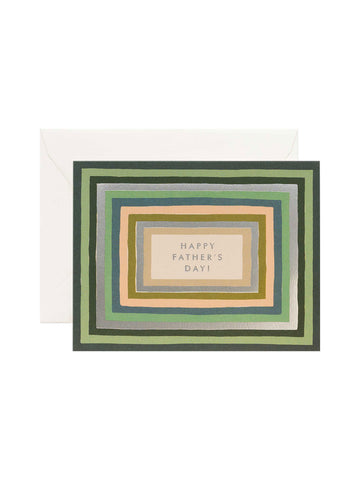 Rifle Paper Co striped Fathers Day card