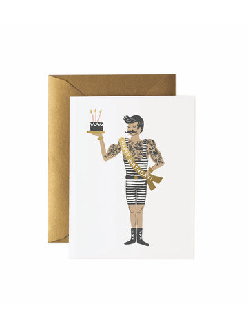 Rifle Paper Co strongman birthday card