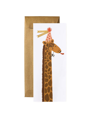 Rifle Paper Co tall giraffe birthday card