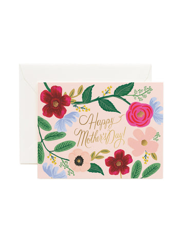 Rifle Paper Co wildflowers Mother's Day card