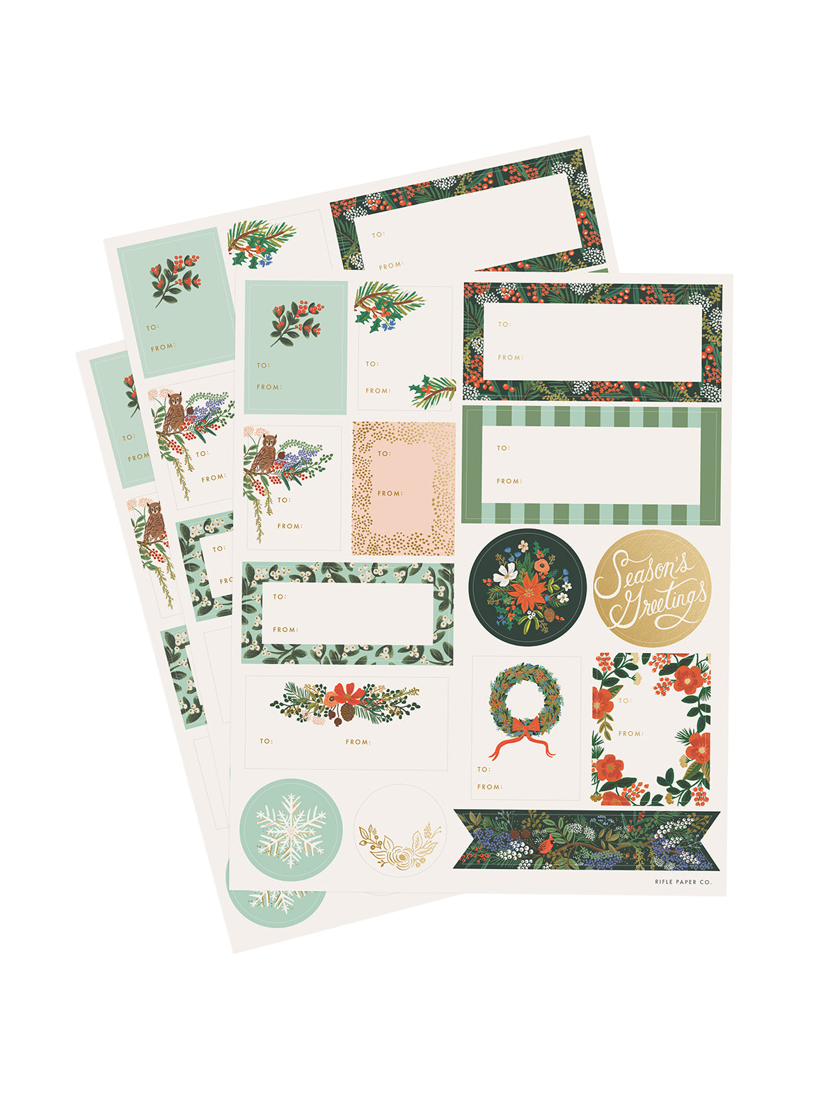 Rifle Paper Co winter floral stickers