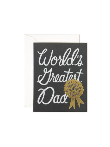 Rifle Paper Co world's greatest dad card