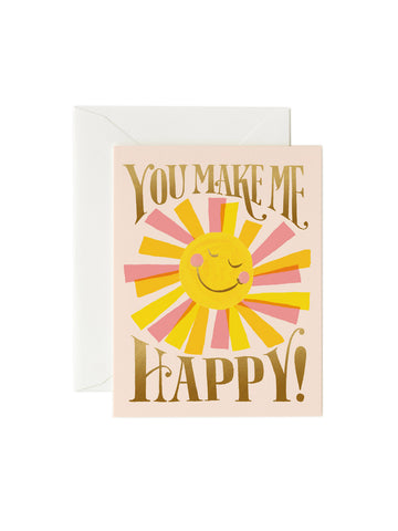 Rifle Paper Co you make me happy card