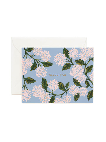 Rifle Paper Co hydrangea thank you card