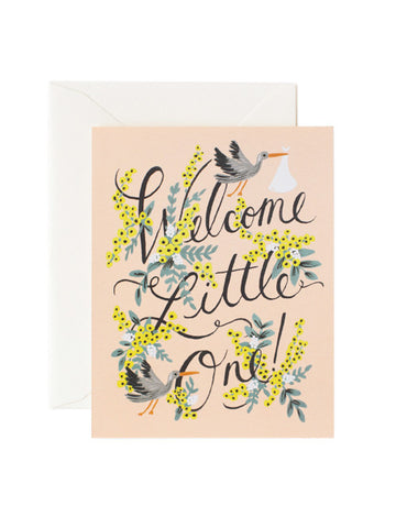 Rifle Paper Co welcome little one card