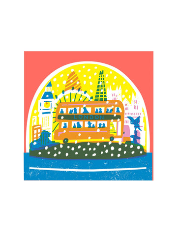 London snowglobe card